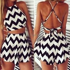 Women Clubwear Backless Playsuit Bodycon Party Jumpsuit Romper Trousers OK