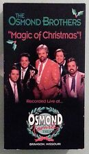 the osmond brothers  MAGIC OF CHRISTMAS  VHS VIDEOTAPE