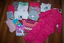 NWT Girls 3T HUGE 17 Piece FALL WINTER LOT CRAZY 8 GAP CARTERS Sets PJS Snowsuit
