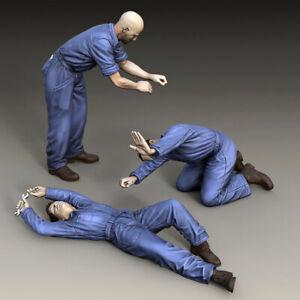 1/35 Resin MECHANICS Workers Repair man 3 Figures unpainted unassembled KY750