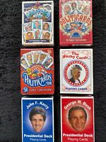 6 Decks Political Playing Cards -5 New And 1 Pre-owned