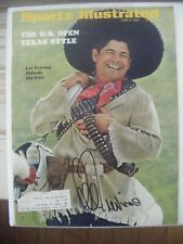 LEE TREVINO signed June 1969 Sports Illustrated Golf magazine AUTO Autographed