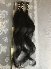 beautiful human natural hair 70cm each 100 gram black color amazing quality.