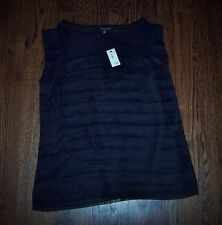 NWT black The LIMITED medium M MED sheer ruffle top blouse shirt NEW!