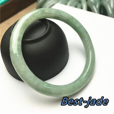 SMALL Natural Ice Jade Bangle Bracelet Grade A Baby Hand carved Jadeite 1.66in