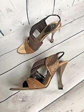 750 £ Authentique RENE CAOVILLA Talon Haut Sandales Bout Ouvert Chaussures Taille 36, UK 3