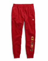Red Champion Life Men's Reverse Weave Joggers Fleece Old English Logo