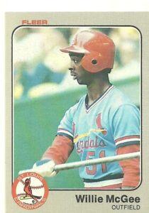 1983 Fleer Willie McGee RC #15 25002