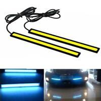 2x Super Bright COB White Car LED Lights For DRL Fog-Driving Waterproo T9G9 C5K8