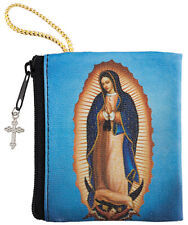 Our Lady of Guadalupe Zipper Rosary Case Holder NEW