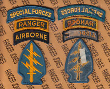 US Army Special Forces Group Airborne SFGA SF RANGER TOP Dress patch m/e set