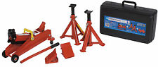 Sumex 2 Tonne Hydraulic Trolley Jack + Axel Stand + Wheel Chock Car Lifting Kit