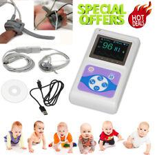 CE&FDA Infant Neonate Finger Pulse Oximeter Sleep SpO2 Heart Rate Monitor+USB SW
