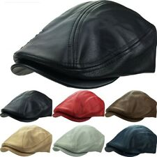 Genuine Leather 100% Classic Ascot Newsboy Ivy Hat USA MADE Cap, Cabby, Driver