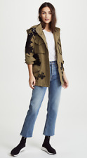 New $550 Alice + Olivia Meta Embroidered Oversized Jacket Size XS