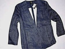 KATE SPADE Saturday womens Suit Yourself blazer Denim jean Jacket SMALL