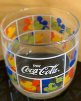 Disney Mickey Mouse Coca Cola Japan Glass From Okinawa Coke Tiny