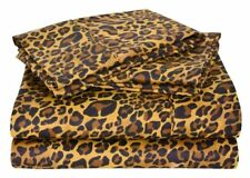 Branded Leopard Print Duvet Cover & 2 Pillowcase Egyptian Cotton 800-TC USA Size