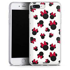 Apple iPhone 8 Plus Silikon Hülle Case - Minnie Icon Pattern