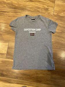 Boys Short Sleeved T Shirt Age 12 Napapijri Grey