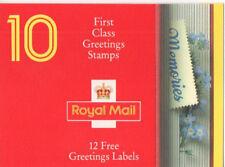 "1992 ""Memories"" Greating Stamps Booklet KX4 Pressed Flower Design"