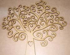 10 x 150mm swirly tree mdf wooden laser cut for picture frames