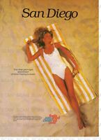 1986 San Diego Swimsuit Beauty on Beach Vintage Magazine Ad- Feels Good All Over