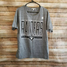 Junk Food NFL Official Oakland Radiers Mens Gray Black Tee Shirt Size Large NWOT
