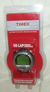 Never Used Timex Marathon 50 Lap Memory Handheld Stopwatch 5G831 New Sealed
