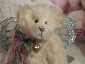 "VINTAGE 12"" MOHAIR ARTIST Fairy Teddy Bear BABES IN THE WOODS By BARBARA FERRIER"