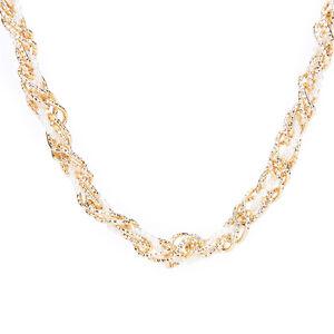 Women Belt Hip Waist Gold Metal Chains Pearl Beads B.BI