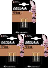 6 x DURACELL® E90 N M9100 LR1 1.5V Alkaline Batteries Expiry 2024