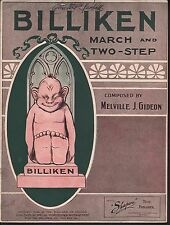 Billiken March and Two Step 1909 Large Format Sheet Music
