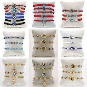Turkish BLUE Evil Eye Bead Protection Good Luck Bracelet Women Jewelry Wholesale