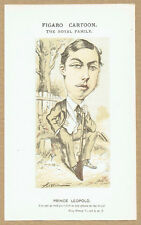 1870s Chromolithograph Figaro Cartoon of Prince Leopold by Faustin Betbeder