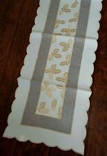 """16x36""""  Embroidered  Christmas Tablecloth Table Runner Home Party Decor"""
