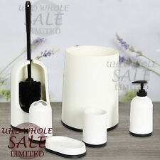 SET OF 6 PCS BATHROOM ACCESSORY SOAP DISH DISPENSER TUMBLER TOOTHBRUSH RISEN NEW