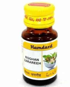 3 X Hair Loss & Hair Regrowth Hamdard Herbal UNANI Roghan Zarareeh - 10 ml