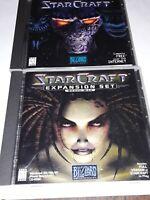 Starcraft and Starcraft Brood War Expansion Set (PC, 1998) CD-ROM Windows 95