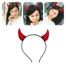 Fashion NEW Devil Horns Headband Hairpin Red Halloween Party DIY Decor For Girls