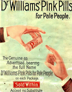 Dr Williams Pin Pills Medical Medicine 1890 RETRO STYLE METAL TIN SIGN POSTER
