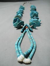Necklace Native American Old Noteworthy Vintage Navajo Turquoise