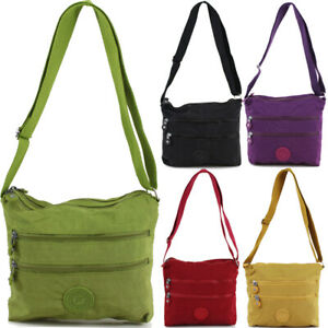 Ladies Nylon Light Weight Cross Body Messenger Bag Women Shoulder Tote Satchel H