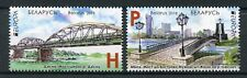 Belarus 2018 MNH Bridges Europa Bridge 2v Set Architecture Stamps