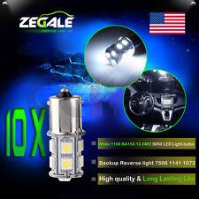 10X 6000K White 1156 BA15S RV Trailer Interior 12V LED Lights Bulbs 13 SMD 5050