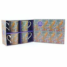 Coffret cadeau ensemble de 4 Porcelaine Fine William Morris MUGS-Bird of Paradise