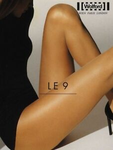 Wolford LE 9 Tights Pantyhose Color: Black  Size: Medium 10214 - 09