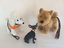 American Girl Julie Dog Walking Set Poodle Chihuahua Terrier