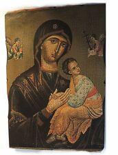 Anziani Icona su legno Grecia circa 35 x 25 cm