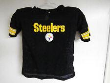 Steelers BOYS medium Jersey built in HARD MOLDED PLASTIC shoulder pads football